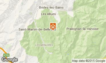 Mappa Méribel Appartamento 90951