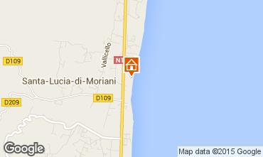 Mappa Moriani Plage Appartamento 19580