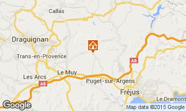 Mappa Roquebrune sur Argens Villa  76912