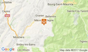 Mappa La Plagne Chalet 31596