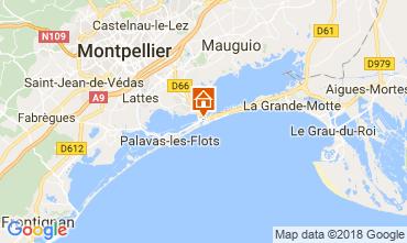 Mappa Carnon Plage Monolocale 114489