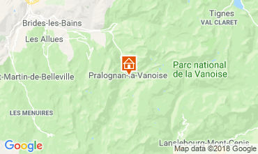 Mappa Pralognan la Vanoise Casa 116066