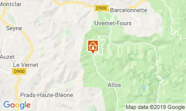 Mappa Val d'Allos Monolocale 3203