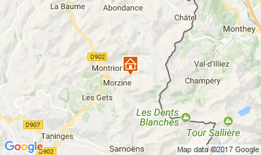 Mappa Morzine Chalet 112052