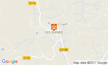 Mappa Les Saisies Appartamento 2719