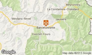 Mappa Barcelonnette Monolocale 90072