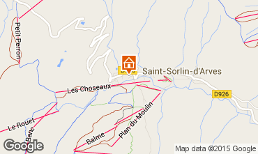 Mappa Saint Sorlin d'Arves Appartamento 2684