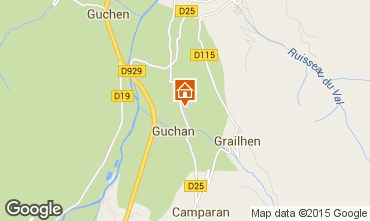 Mappa Saint Lary Soulan Chalet 90787