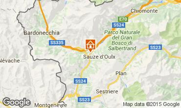 Mappa Sauze d'Oulx Appartamento 59612