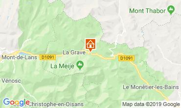 Mappa La Grave - La Meije Appartamento 32294