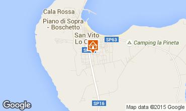 Mappa San Vito lo Capo Appartamento 101904