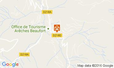 Mappa Areches Beaufort Appartamento 107182