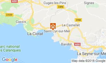 Mappa Saint Cyr sur Mer Appartamento 10285