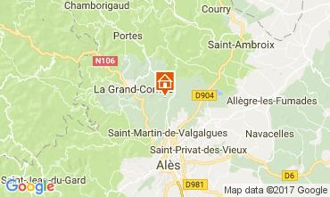 Mappa Alès Villa  112619