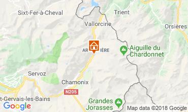 Mappa Chamonix Mont-Blanc (Monte Bianco) Appartamento 116295