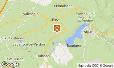 Mappa Sainte-Croix-du-Verdon Casa 102315