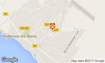 Mappa Andernos les Bains Monolocale 81839