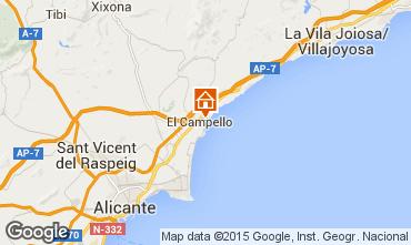Mappa Alicante Appartamento 55110