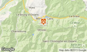 Mappa Les 2 Alpes Appartamento 92550