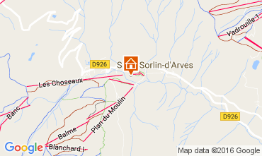 Mappa Saint Sorlin d'Arves Appartamento 27289