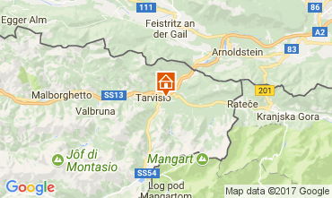 Mappa Tarvisio Chalet 111297
