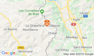 Mappa Châtel Chalet 16141