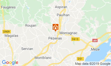 Mappa Pézenas Villa  119745