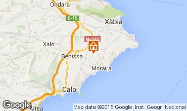 Mappa Benissa Appartamento 75593