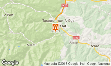 Mappa Ussat les Bains Agriturismo 3918