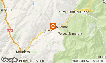 Mappa La Plagne Chalet 64818
