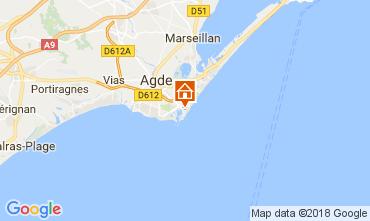 Mappa Cap d'Agde Appartamento 112976