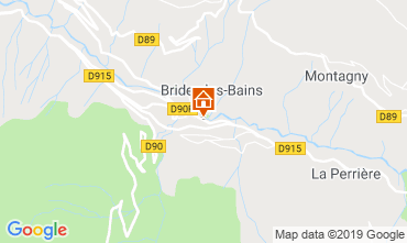 Mappa Brides Les Bains Appartamento 4914
