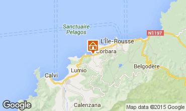 Mappa Algajola Appartamento 86904