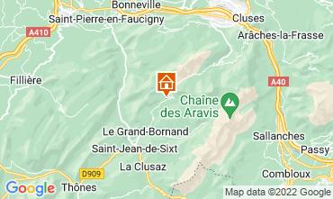 Mappa Le Grand Bornand Appartamento 76154