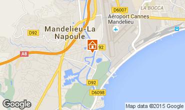 Mappa Mandelieu la Napoule Monolocale 65092