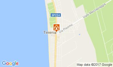 Mappa Tirrenia Appartamento 106079