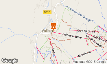 Mappa Valloire Appartamento 79627