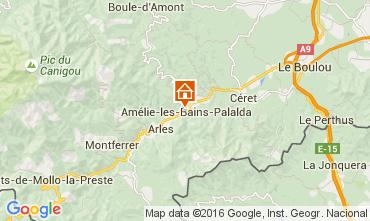 Mappa Amélie-Les-Bains Monolocale 18749