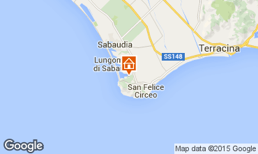 Mappa San Felice Circeo Villa  55395