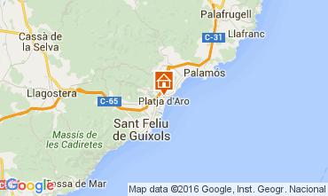 Mappa Playa d'Aro Appartamento 98671