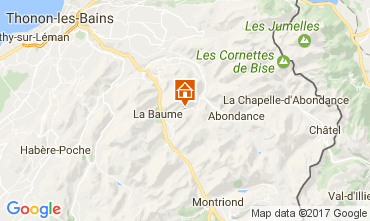 Mappa Morzine Chalet 38701