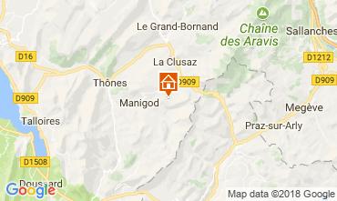 Mappa Manigod-Croix Fry/L'étale-Merdassier Appartamento 115080