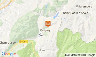 Mappa Alpe d'Huez Chalet 113371