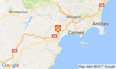 Mappa Mandelieu la Napoule Monolocale 67791