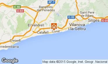 Mappa Calafell Appartamento 61392