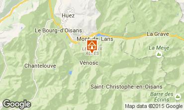 Mappa Les 2 Alpes Appartamento 91727