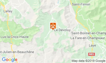 Mappa Superdévoluy- La Joue du Loup Appartamento 112558