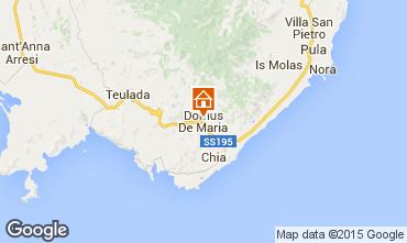 Mappa Chia Appartamento 61195