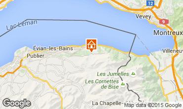 Mappa Thollon Les Mémises Appartamento 39863