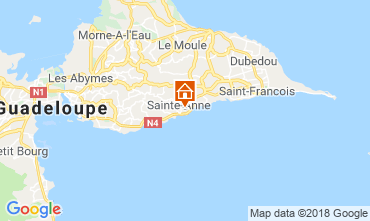 Mappa Sainte Anne (Guadalupa) Bungalow 117399
